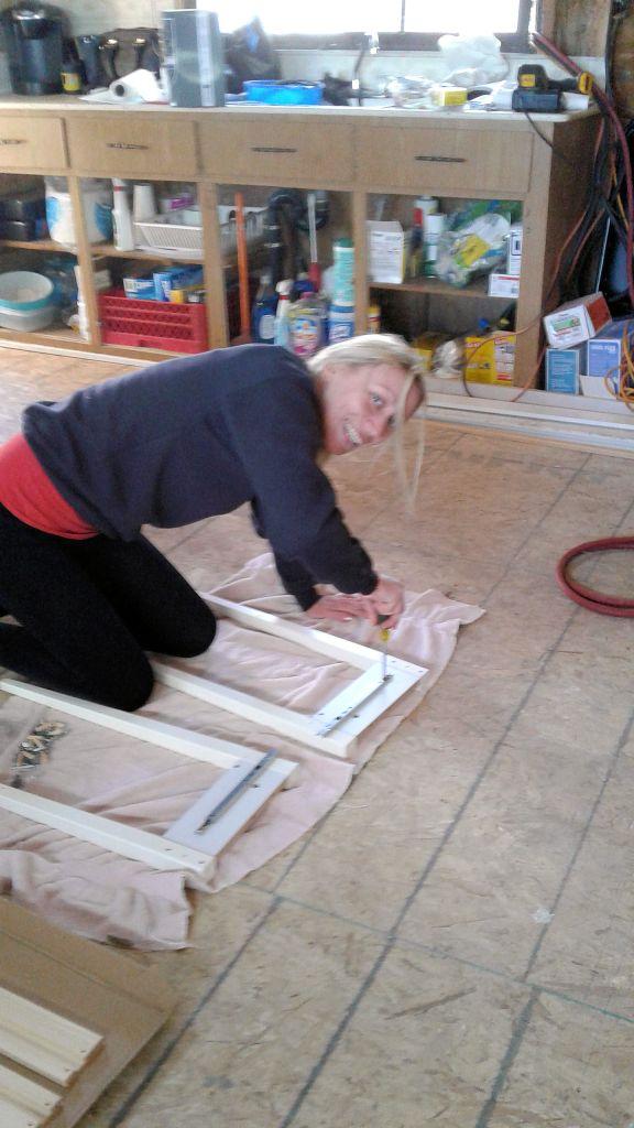 Karen starting the fisrt priming